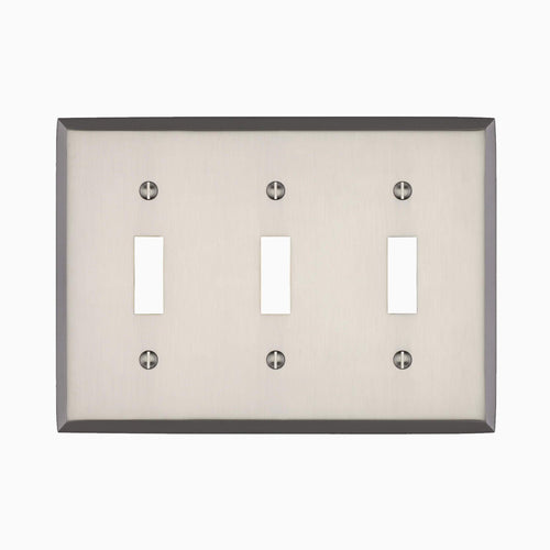 Graham Triple Light Switch Cover