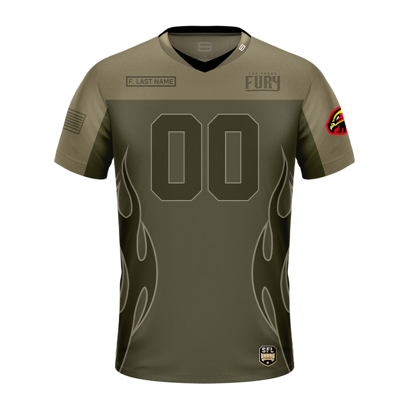 Las Vegas Fury Salute The Troops Pro Jersey