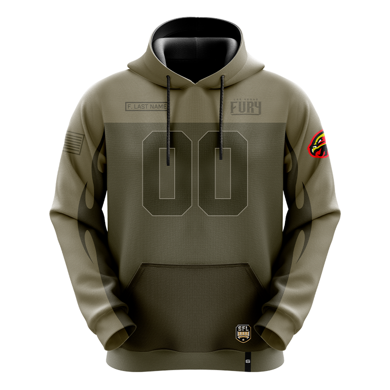 Las Vegas Fury Salute The Troops Pro Hoodie