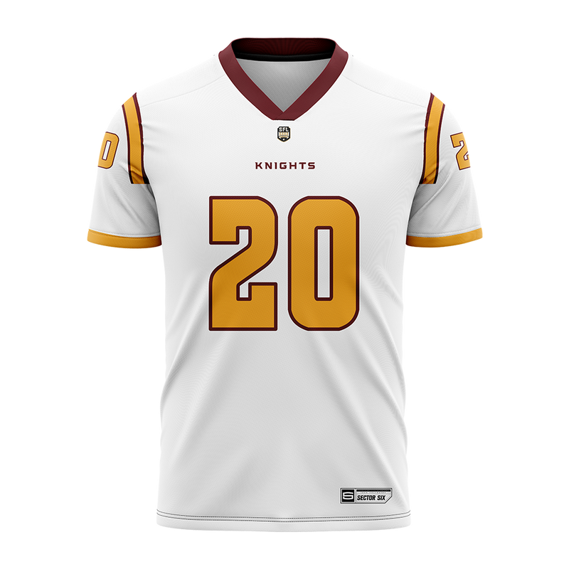 London Knights White Replica Football Jersey