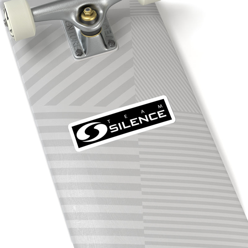 Team Silence Text Logo Sticker