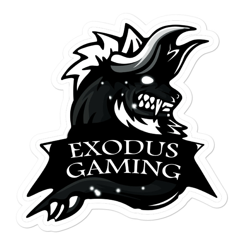 Exodus Gaming Logo Sticker - Grey