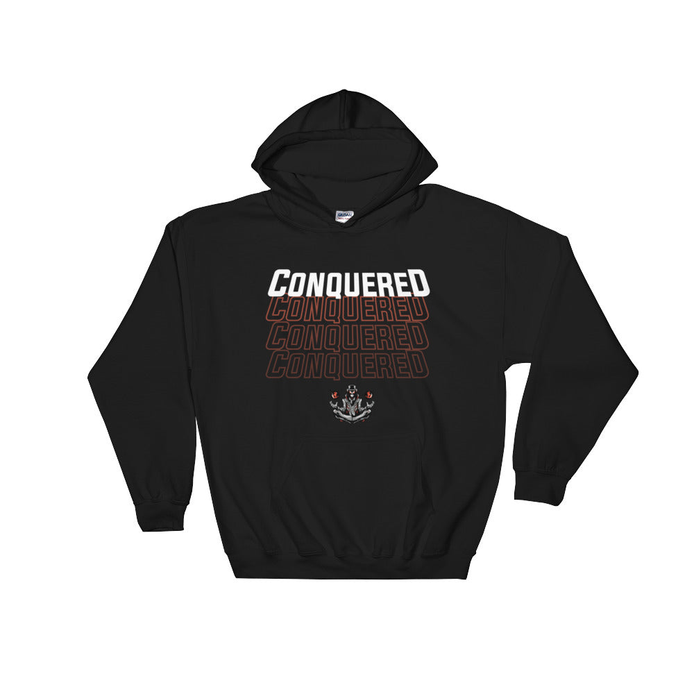 Conquered Text Hoodie