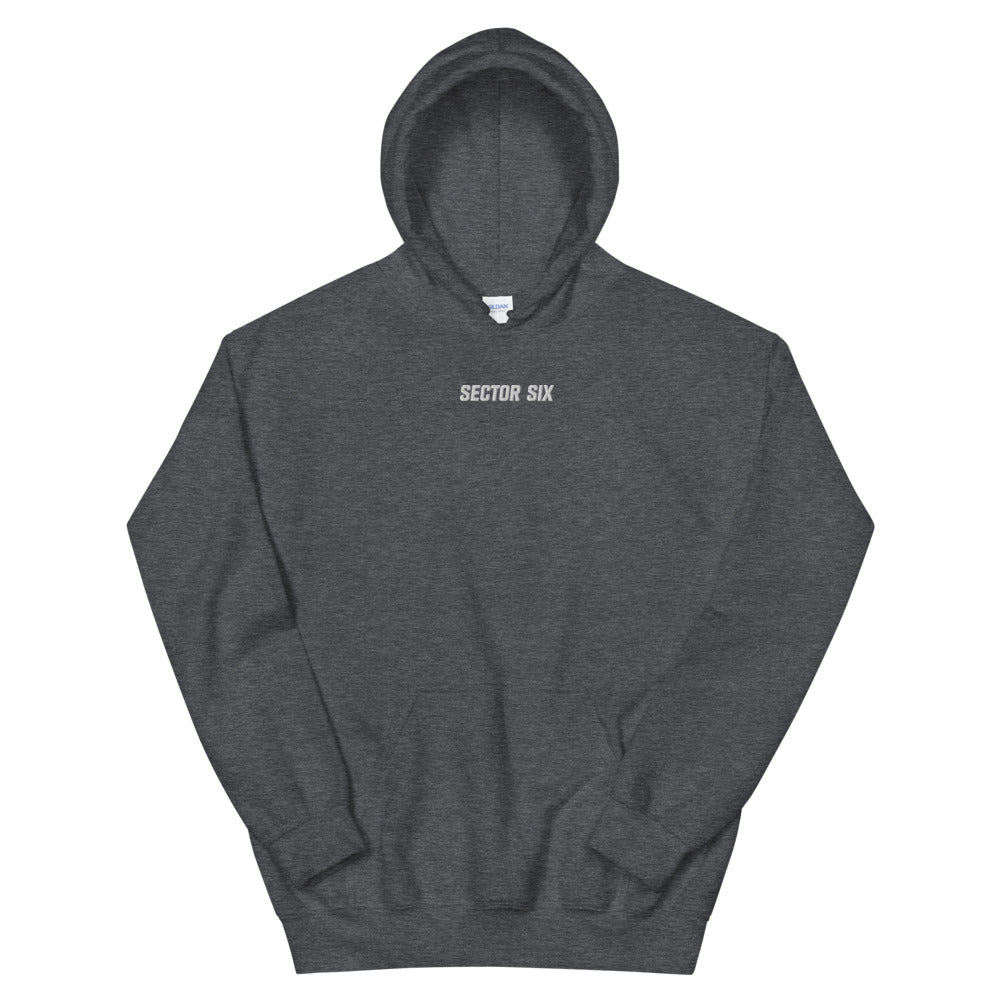 Sector Six Embroidered Text Hoodie