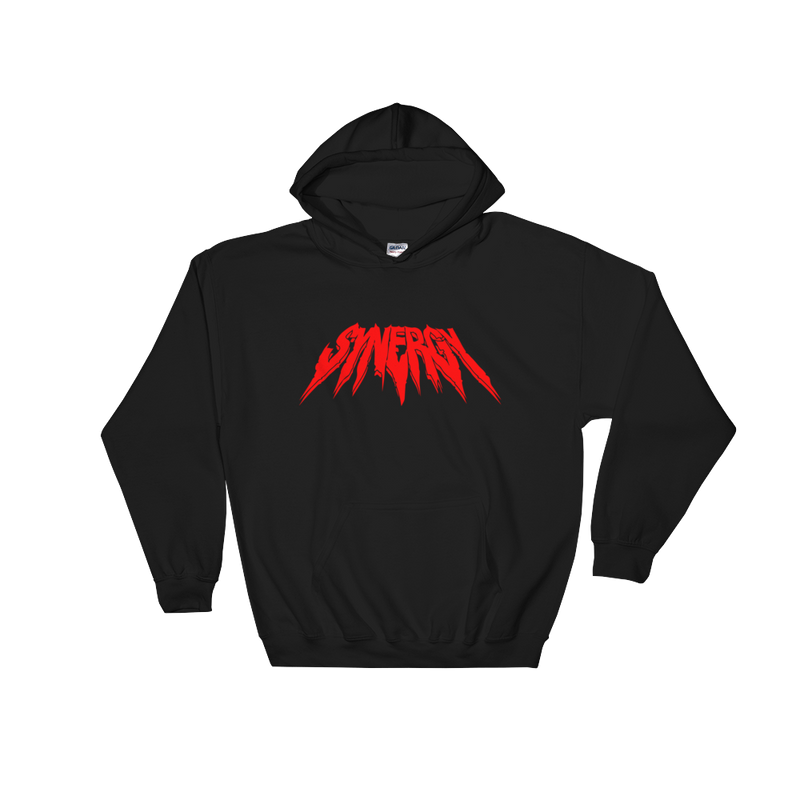 Synergy RED GRUNGE Hoodie