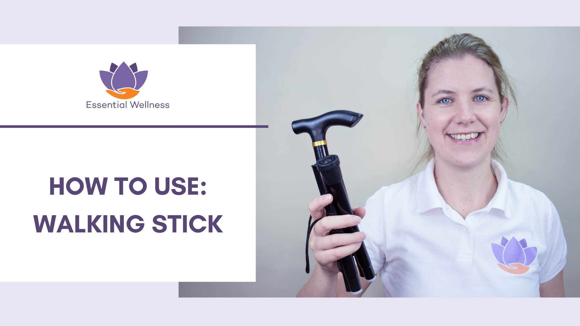 How to Fit an Adjustable Walking Stick [Video]-Essential Wellness