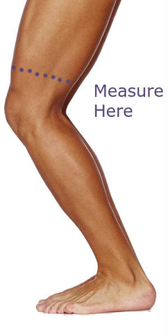 Essential Wellness Knee Support Brace Measurement - Where to measure for a knee support brace - How to measure a knee support brace