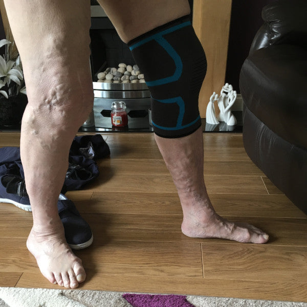 Review of Essential Wellness knee compression sleeve for travel