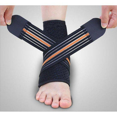 Ankle Support with Reinforcing Strap - Stabilises & Supports-Orthotics, Braces & Sleeves-Essential Wellness