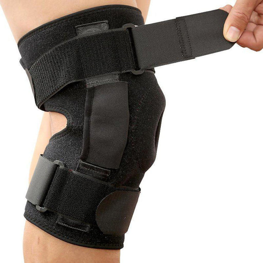 Hinged Knee Brace, Adjustable Fit - Rigid Protection & Support
