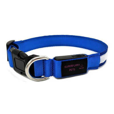 LED Rechargable Dog Collar - keep your dog safe & visible-Superfurry Pets Supplies-Essential Wellness