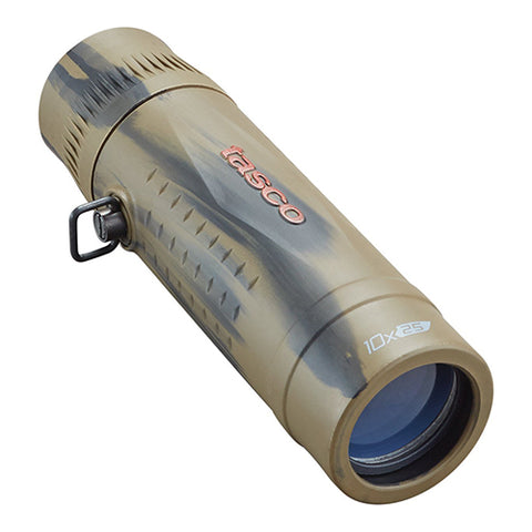 Tasco Monocular 10x25mm, Roof Prism, MC, Brown Camouflage, Boxed