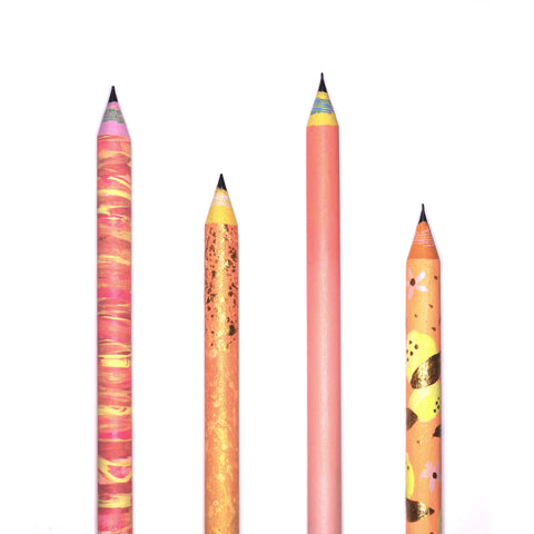 Squeeze the Day - Hand-Painted Pencils