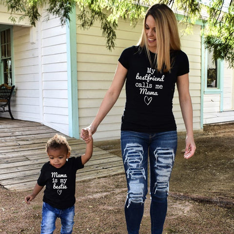 Mama Is My Bestie (Mommy & me Matching T shirts)