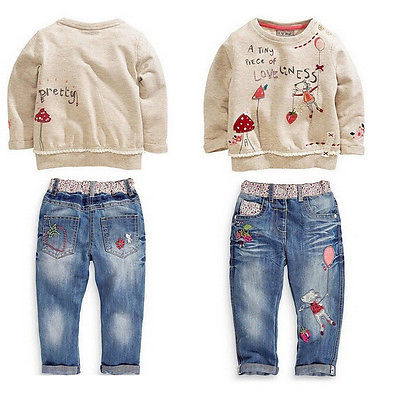 """Loveliness"" 2 piece denim pants set"