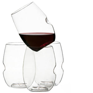 Shatterproof plastic glassware for entertaining