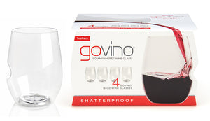 pack of red wine glasses for picnics, dishwasher safe and health BPA free plastic, premium glassware