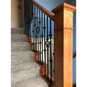 stair newel railing utah salt lake city park city woodworking balisters custom steps stair railing