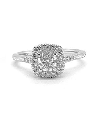 Gabriel 14k White Gold 0.57 Ct Diamond Total Weight Ring