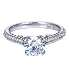 Load image into Gallery viewer, Gabriel 18k White Gold Semi Mount, 0.42 Ct