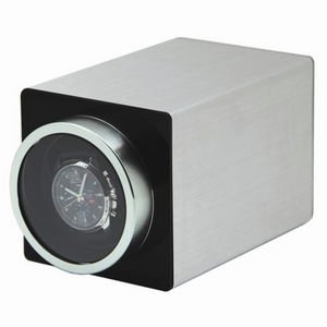 Silver Metal Single Watch Winder