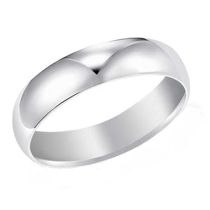 14k White Gold 5mm Plain Band, size 10.5