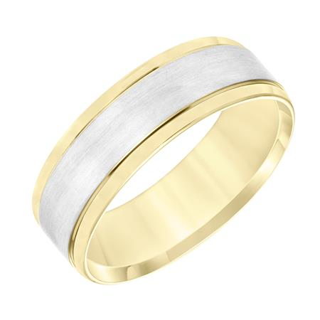 14K Yellow and White Gold Band, size 10
