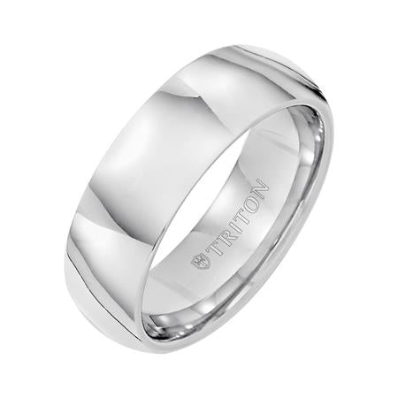 tungsten Carbide 7mm Plain Band, size 10
