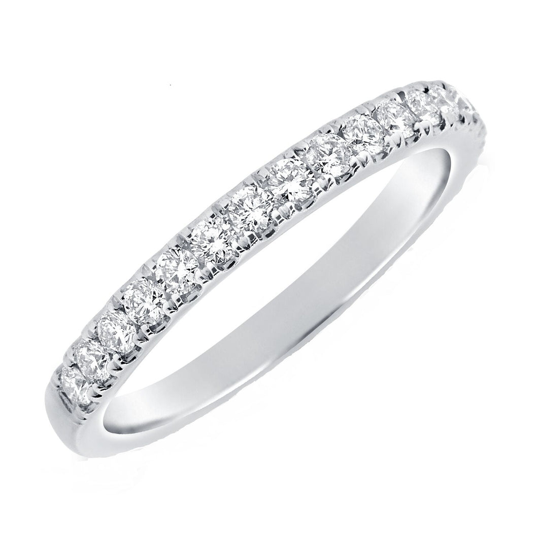 14k White Gold 0.43 Carat Diamond Band