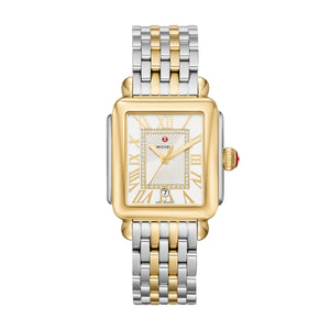 Michele Deco Madison Two Tone, Silver White Sunray Diamond Dial
