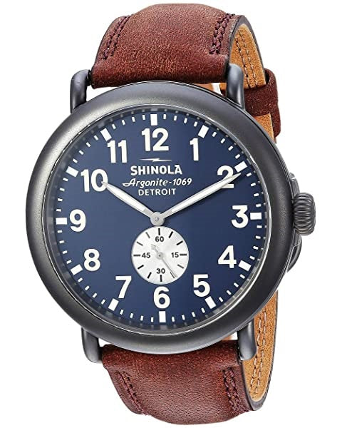Gts Shinola 47 mm Runwell, Midnight Blue, Cat Strap