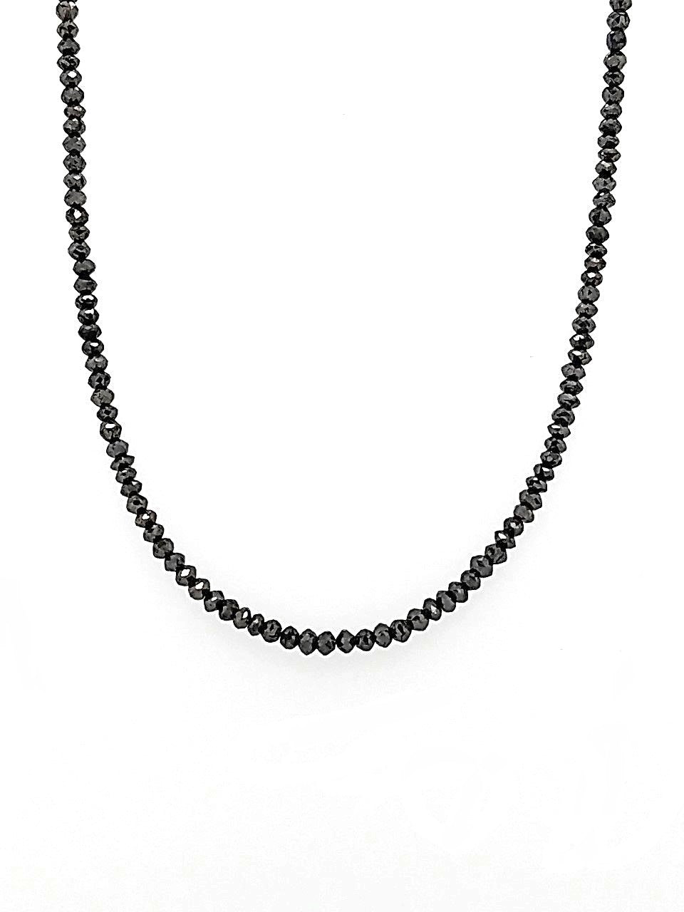 18 inch Black Diamond 19 ct Necklace with 14k White Gold Clasp