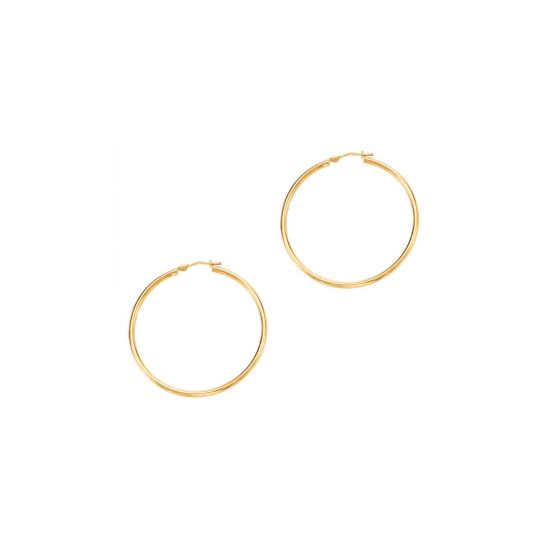 14k Yellow Gold 1.5x30 mm Hoop Earring
