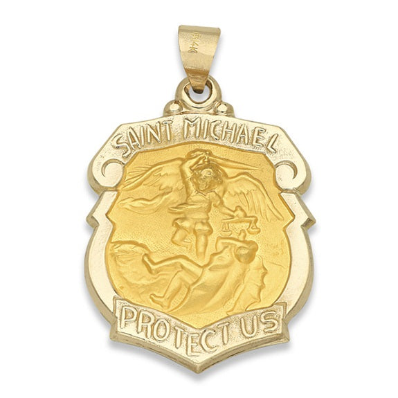 14k Yellow Gold St. Michael Medal