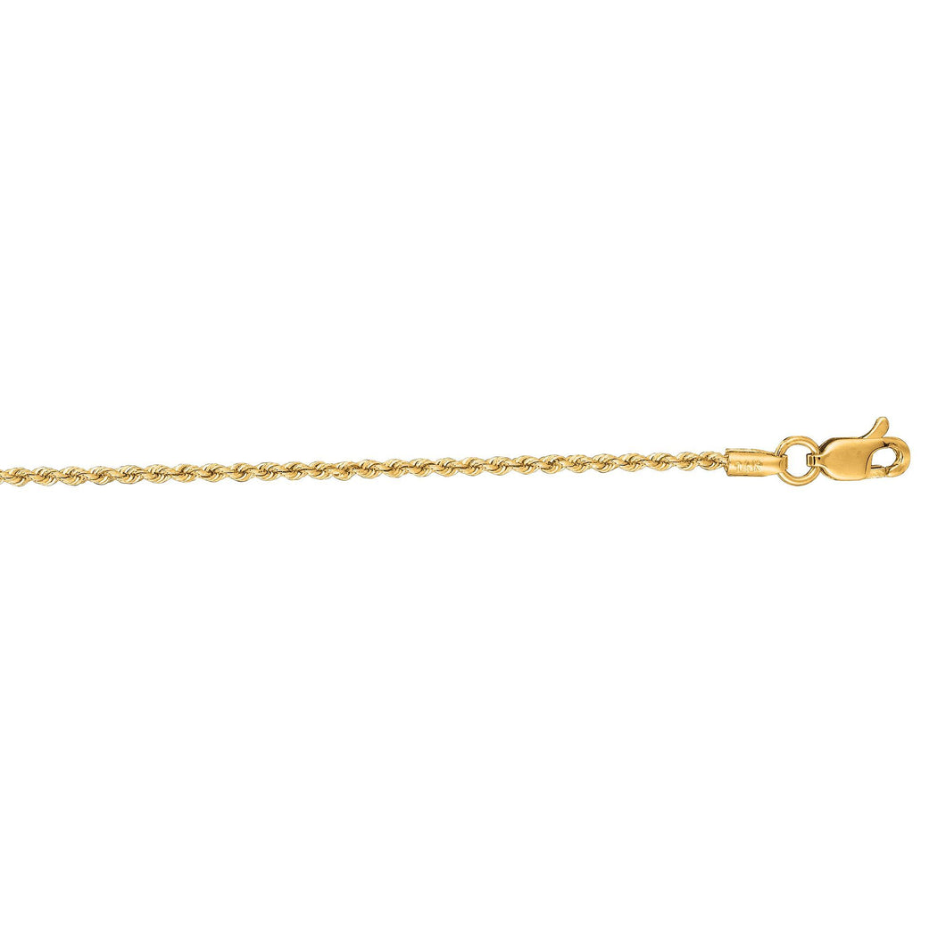 14k Yellow Gold 1.5mm 18