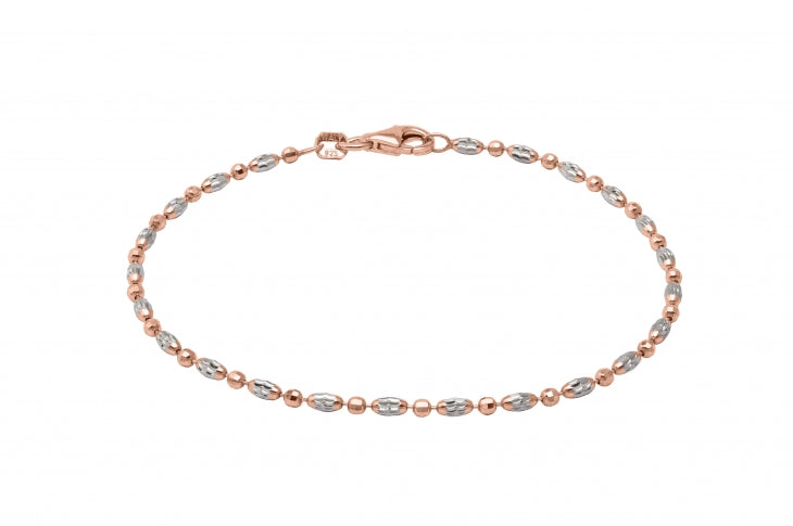 Officina Bernardi Sterling Silver rhodium and rose gold plate 9