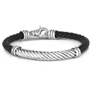"Sterling Silver 8.25"" Twisted Rope Bracelet"