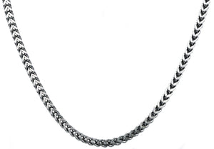 Mens 4mm Stainless Steel Franco Link Chain Necklace