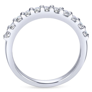 14k White Gold 0.52 Carat Diamond Band