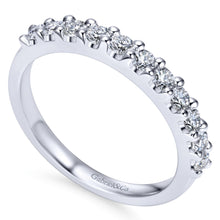 Load image into Gallery viewer, 14k White Gold 0.52 Carat Diamond Band