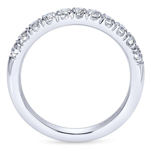 14k White Gold 0.50 Carat Diamond Band