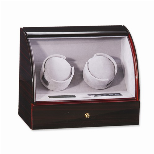 Ebony Gloss Finish Double Watch Winder