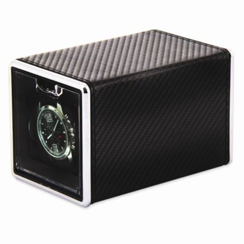 Carbon Fiber Cloth Covered Metal Single Watch Winder