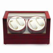 High Gloss Finish Lockable 4-Watch Winder