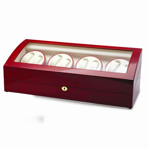 High Gloss Finish Lockable 8-Watch Winder