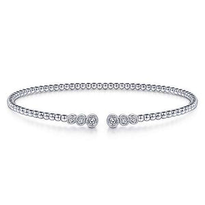 Gabriel 14K 0.23 Ct Diamond Bangle size 6.25 inch Bracelet, Available in White, Rose and Yellow Gold