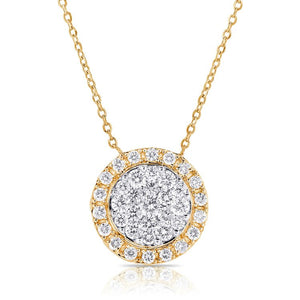 14k 0.67 Ct Diamond Cluster with Halo, Available in White, Rose and Yellow Gold