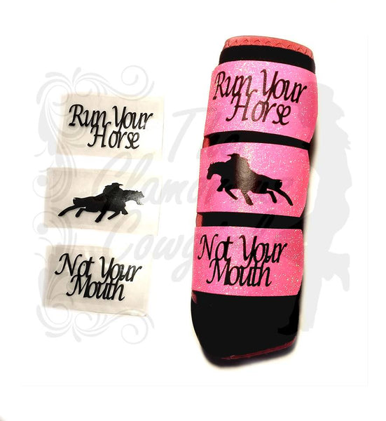 The Glamorous Cowgirl Decor Quote Straps - Black Text