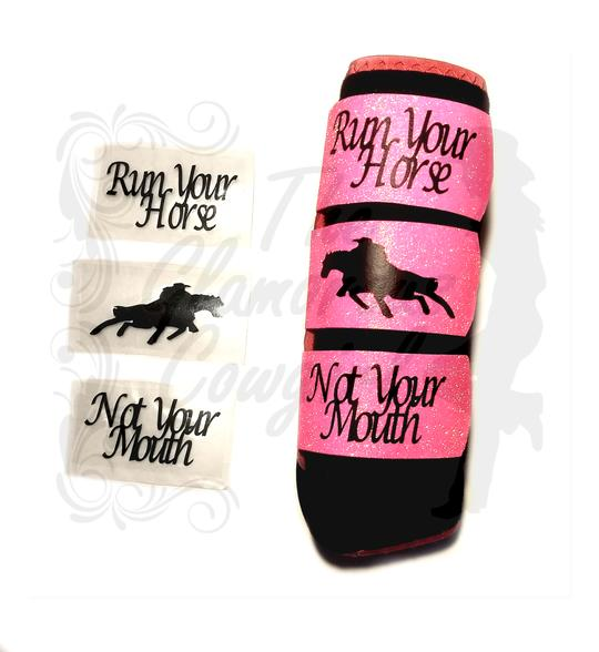 The Glamorous Cowgirl Decor Quote Straps - White Text