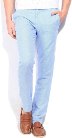 United Colors of Benetton Slim Fit Men's White, Blue Trousers